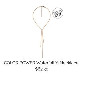Sabika Jewelry Color Power Waterfall Necklace.